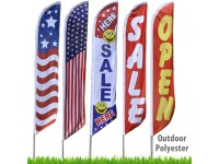 Stock Messages Feather Flags - 11.5 Ft. Polyester