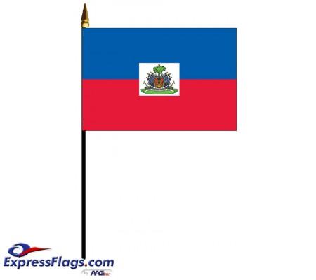 Haiti Mounted Flags