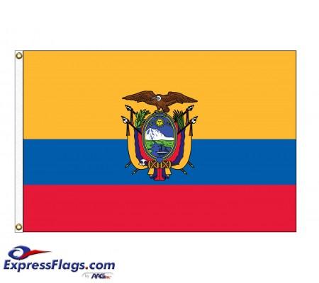 Ecuador Nylon Flags - (UN, OAS Member)ECU-NYL