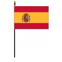 Spain Mounted Flags