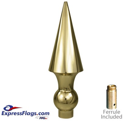 8.5in Metal Round Spear Ornament for Indoor Display Flagpoles050089