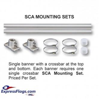 Single Banner Pole Mounting SetsSCA