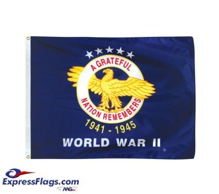 WW II Veterans Commemorative Flags - 3  x 4070238