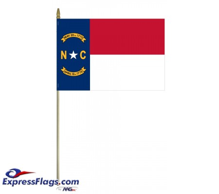 Mounted North Carolina State Flags