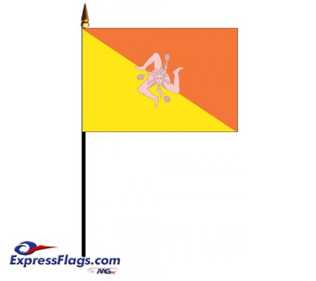 Sicily Mounted Flags - 4in x 6in033717