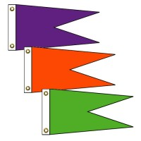Angle Burgee Solid Color Nylon Flags