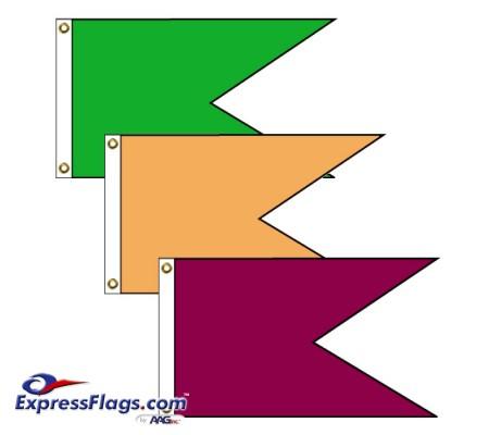 Horizontal Burgee Solid Color Nylon FlagsNY-HB