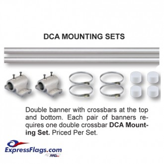Double Banner Pole Mounting SetsDCA