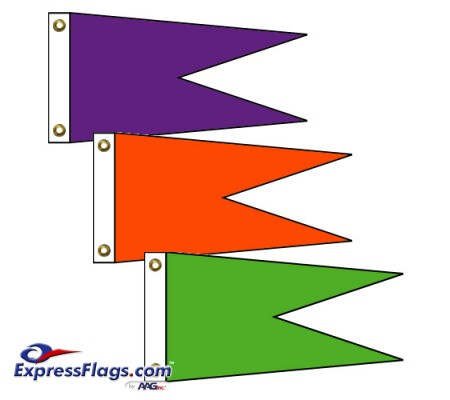 Angle Burgee Solid Color Nylon FlagsNY-AB