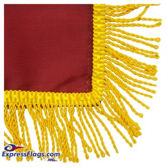 American Flags with Pole Hem and/or Fringe for Your Indoor DisplayFN-FNH