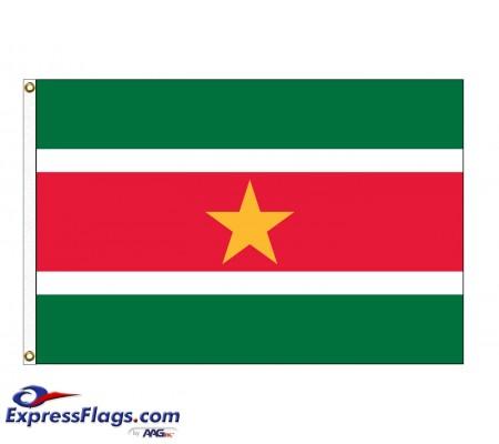 Suriname Nylon Flags (UN, OAS Member)SUR-NYL