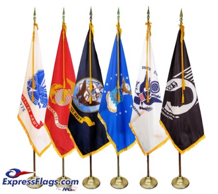 4  x 6  Deluxe Indoor Military Flag Set (Choice of Flag)MMF46