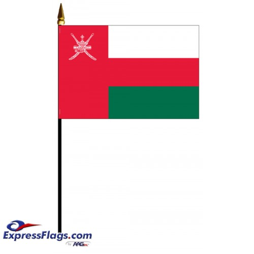 Oman Mounted Flags - 4in x 6in033130