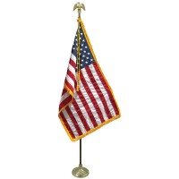 3' x 5' Freedom U.S. Flag Indoor Display Set