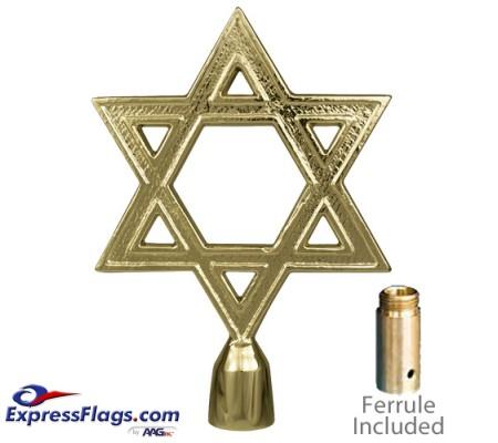 Metal Star of David Ornament for Indoor Display Flagpoles050073