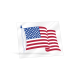 Clear Static Cling American Flag Decals - 3-1/2 in x 4-1/4 in