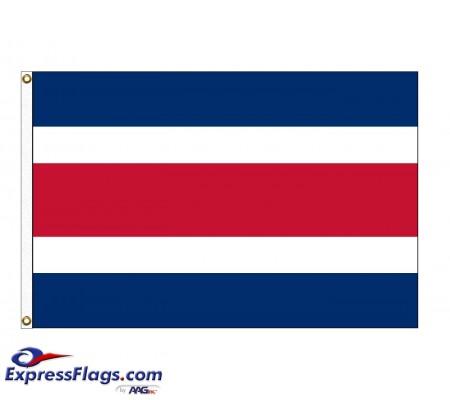 Costa Rica Nylon Flags - No SealCRI-NYL-2
