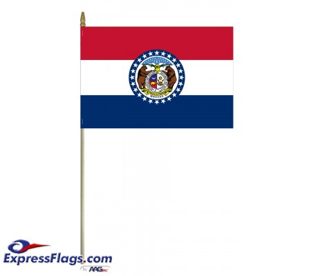 Mounted Missouri State Flags