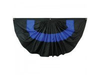 Nylon Pleated Thin Blue Line Fan 3' x 6'