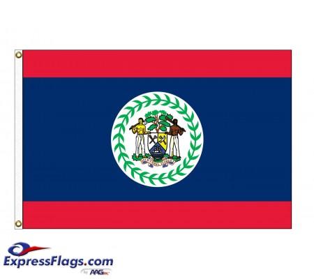 Belize Nylon Flags - (UN, OAS Member)BLZ-NYL