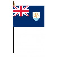 Anguilla Mounted Flags - 4in x 6in