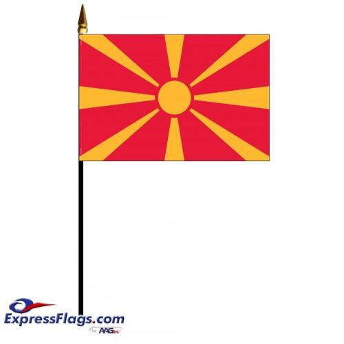 Macedonia Mounted Flags - 4in x 6in032519