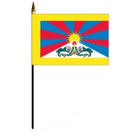 Tibet Mounted Flags - 4in x 6in