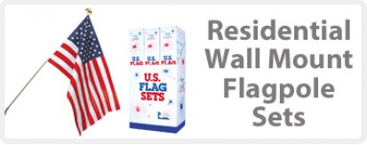 Wall Mount U.S. Flag Sets - Residential