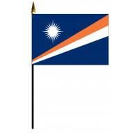 Marshall Islands Mounted Flags - 4in x 6in