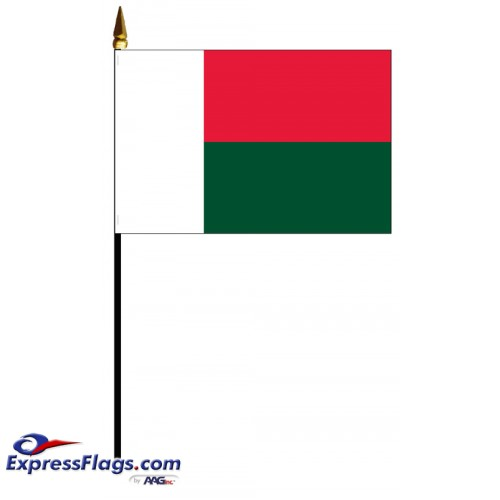 Madagascar Mounted Flags - 4in x 6in032533
