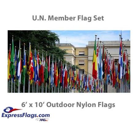 6  x 10  Complete U.N. Member Flags - 193 Outdoor Nylon Flags035747
