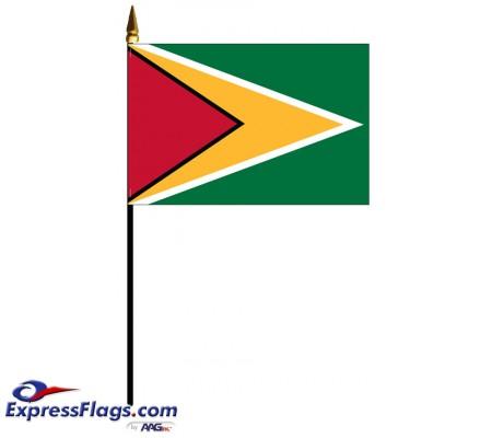 Guyana Mounted Flags
