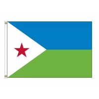 Djibouti Nylon Flags - (UN Member)