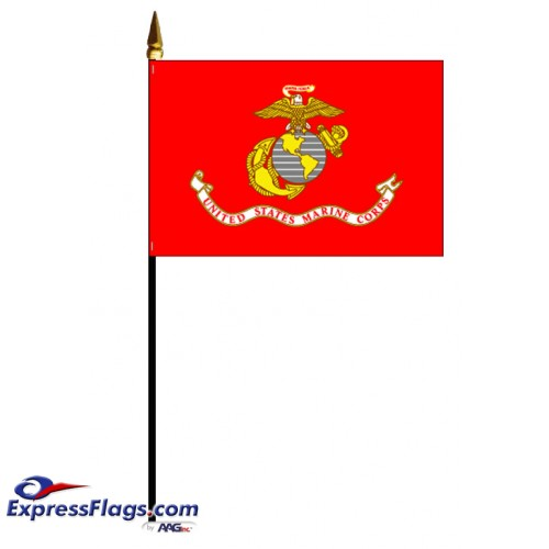 Marine Corps Stick Mounted FlagsUSM-MC-MTD