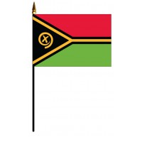 Vanuatu Mounted Flags - 4in x 6in