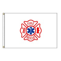 Fire Rescue Flag - 3' x 5' Endura-Nylon