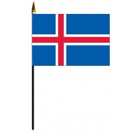 Iceland Mounted Flags - 4in x 6in