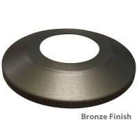 Standard Profile Aluminum Flagpole Flash Collars - Bronze Finish