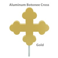 Botonee Cross Outdoor Flagpole Ornaments - Gold Finish