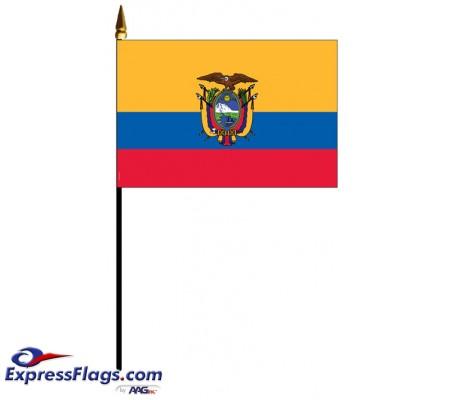 Ecuador Mounted Flags