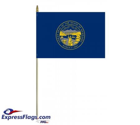 Mounted Nebraska State Flags