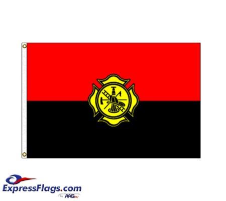 Fireman Remembrance Flag - 3  x 5  Endura-Nylon070322