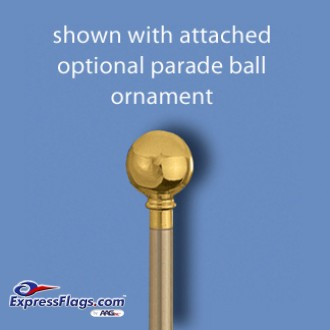 Aluminum Marching Band Poles - Ornament Adapter & Bottom Plug, GoldMP-G