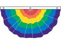 Nylon Pleated Rainbow Fan 3' x 6'