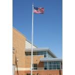 20 ft. Architectural Series Aluminum Flagpole - External Halyard