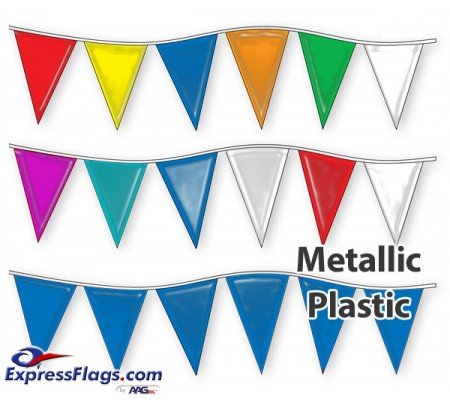 12in x 18in Metallic Pennant StringsRP-M