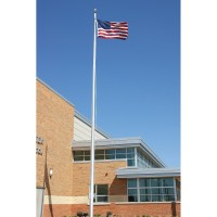 20 ft. Architectural Series Aluminum Flagpole - External Halyard