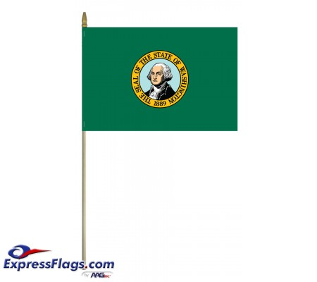 Mounted Washington State Flags