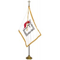 Deluxe Aluminum Pole United Methodist Flag Indoor Display Sets