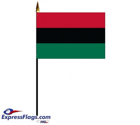 Afro-American Mounted Flags - 4in x 6in030040